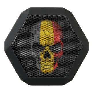 Customizable Belgian Flag Skull Black Boombot Rex Bluetooth Speaker