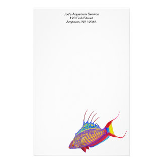 Customizable Bell's Flasher Wrasse Reef Fish Stati Stationery