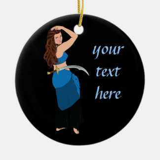 Customizable belly dancer christmas tree ornaments