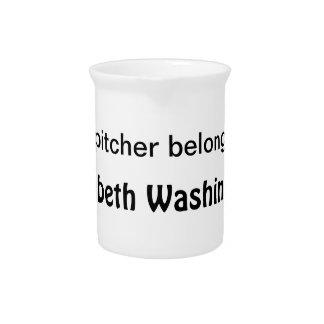 Customizable - Belongs to Me Beverage Pitcher