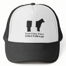 Customizable Belted Galloway Trucker Hat