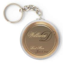 Customizable Best Man Keepsake Keychain