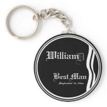Customizable Best Mans Keepsake Keychain
