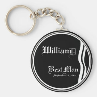 Customizable Best Mans Keepsake Keychain