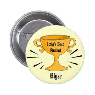 Customizable Best Student Award Pin