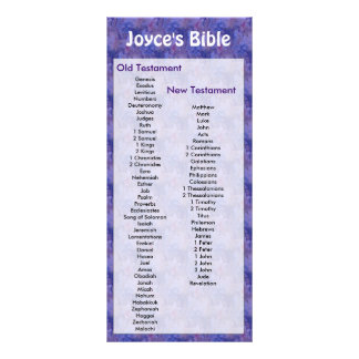 Customizable Bible Bookmark Purple Flowers Rack Card