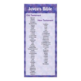 Customizable Bible Bookmark Purple Flowers Rack Cards