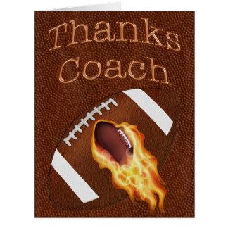 Customizable BIG Thanks Football Coach Cards