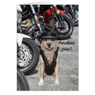 Customizable Biker Lab Greeting Card