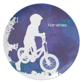 Customizable: Biker Melamine Plate