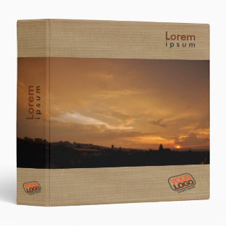 Customizable binder with relaxing sunset colors