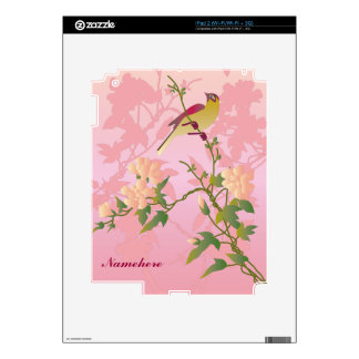 Customizable: Bird on Chinese blossom Decals For The iPad 2