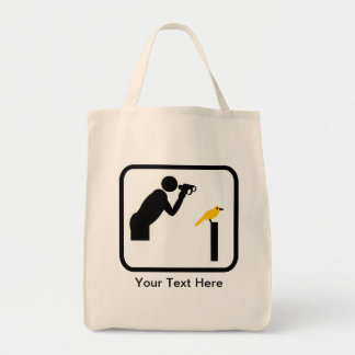Customizable Birder / Bird Watcher Logo Tote Bag