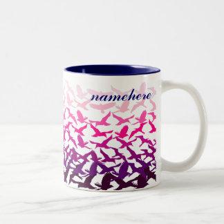 Customizable: Birds Two-Tone Coffee Mug