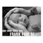Customizable Birth Annoucement 2 Post Card