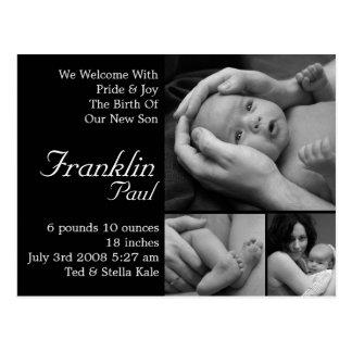 Customizable Birth Announcement Customized Postcard
