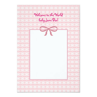 Customizable Birth Announcement for Baby Girl
