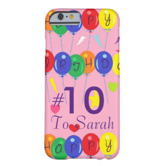 Customizable Birthday Barely There iPhone 6 Case