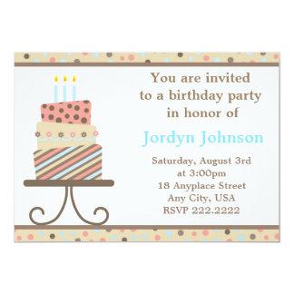 Customizable Birthday Cake Party Invitation