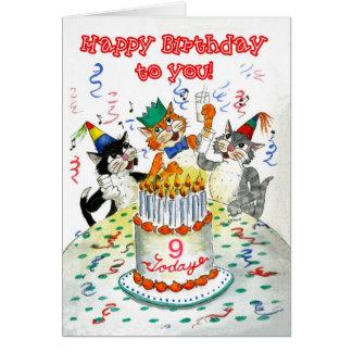 Customizable Birthday Card - Cats' Birthday Party