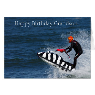 Customizable Birthday Greeting Card Jetskiing