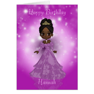 customizable birthday greeting card with cutie