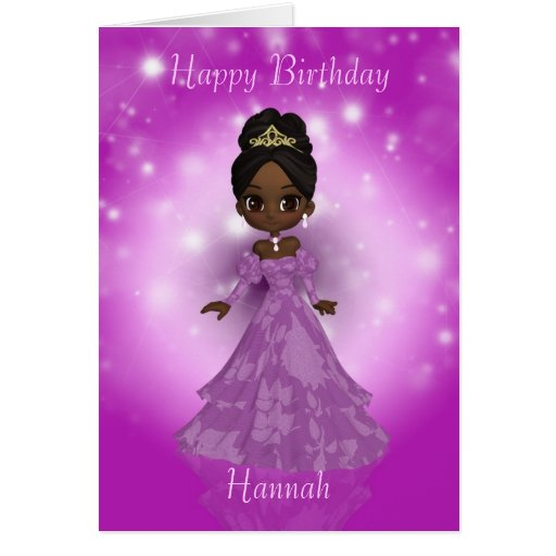 customizable birthday greeting card with cutie