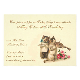 Customizable Birthday Invitation for Cat Lovers