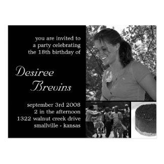 Customizable Birthday Invite Card Photo Invitation