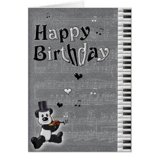 Customizable Birthday Panda Card