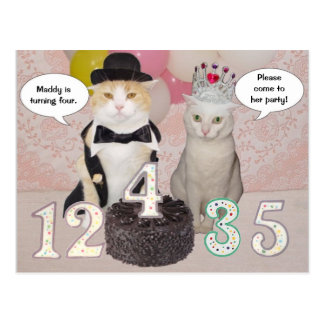 Customizable Birthday Party Invitation Postcard