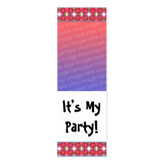 Customizable Birthday Photo Bookmark Business Card