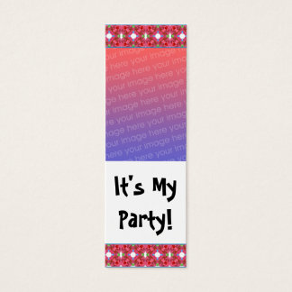 Customizable Birthday Photo Bookmark Mini Business Card