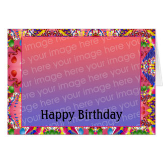Customizable Birthday Photo Card