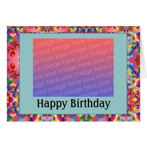 Customizable birthday photo customized greeting cards zazzle for Editable birthday cards