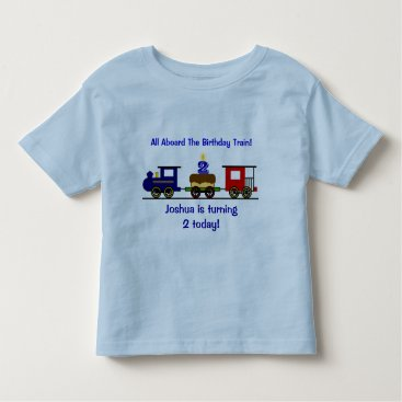 birthday Customizable Birthday Train Shirt