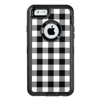 Customizable Black and White Buffalo Plaid OtterBox iPhone 6/6s Case
