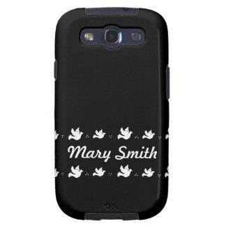 Customizable Black and white Dove design Samsung Galaxy S3 Cases