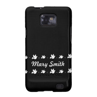 Customizable Black and white Dove design Samsung Galaxy S2 Covers