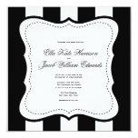 Customizable Black and White Wedding Invitation