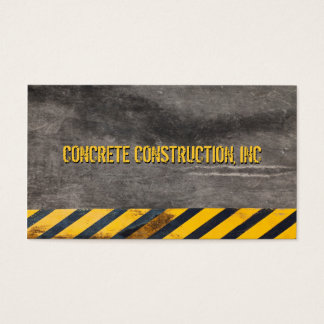 Customizable Black and yellow hazard lines Business Card