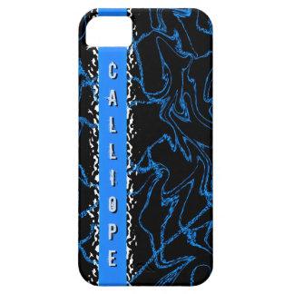 Customizable Black Blue Marble Iphone 5 Case