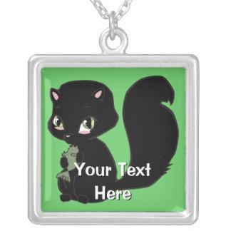 Customizable Black Cat Necklace