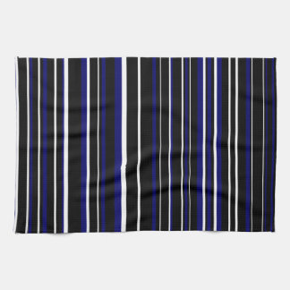 Amazing Customizable Black, Dark Navy Blue, U0026amp; White Stripe Kitchen Towel