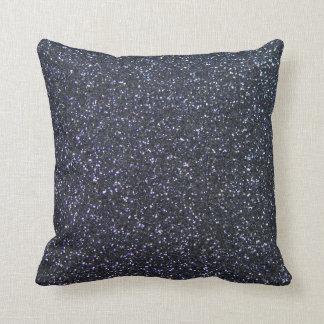 Customizable Black Glitter Background Throw Pillow