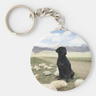 Customizable Black Labrador Retriever Keychain