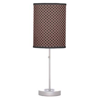 Customizable Black on Cognac Polka Dot Desk Lamp