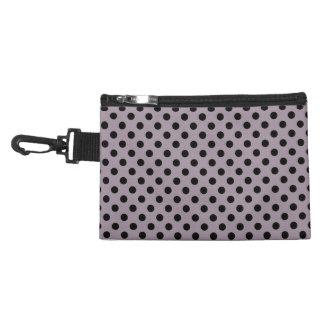 Customizable Black on Sea Fog Polka Dots Accessories Bag