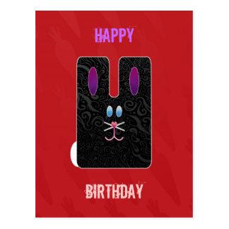 Customizable: Black rabbit Postcards