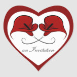 Customizable Black & Red Calla Lily Heart Stickers